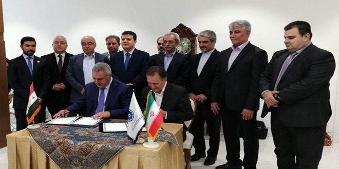 הקמת לשכת מסחר משותפת בין סוריה לאיראן