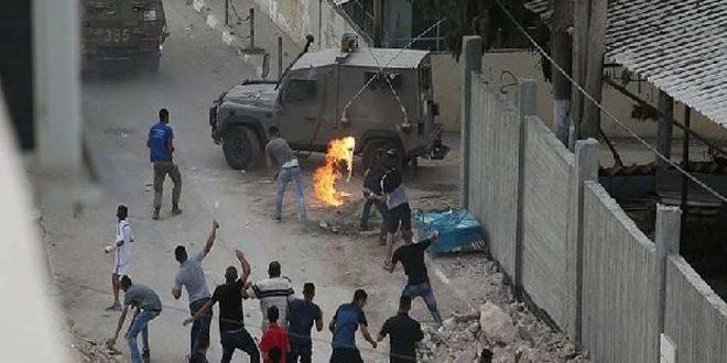 מספר פלסטינים נפצעו בהתקפות שבצעו כוחות הכבוש הישראלי באלח'אן אל-אחמר