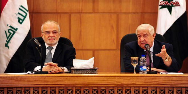 אל-מועלם ניצחונן של סוריה ועיראק במלחמה נגד הטרור חשוב לכל העולם .. אל-ג'עפרי היחסים העיראקיים-סוריים חזקים