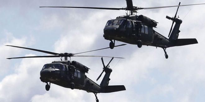 """מסוקים בקואליציה הבינ""""ל מעבירים טרוריסטים מארגון דאעש מפרבר אל-חסקה הצפוני-מזרחי"""