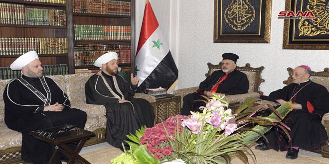 המופתי חסון .. אחדותם של הסורים התבטאה בהתנגדותם לטרור התכפירי