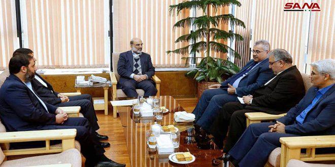 שיחות סוריות-איראניות לקדום שיתוף הפעולה בתחום התקשורת והשדור ברדיו בטיליביזיה ובלווין
