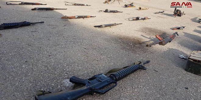 הגופים הנוגעים בדבר מצאו אמצעי לחימה ותחמושת בין שרידי הטרוריסטים בפרבר חומס הצפוני