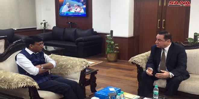 שר התחבורה ההודי : אנו רוצים לקדם את היחסים עם סוריה בתחומי כלכלה