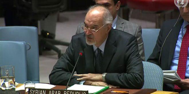 אל-ג'עפרי : החזרת הגולן הסורי הכבוש היא זכות קבועה לסוריה ואינה נתנת למקוח או לוותורים, ואינה נופלת בהתישנות
