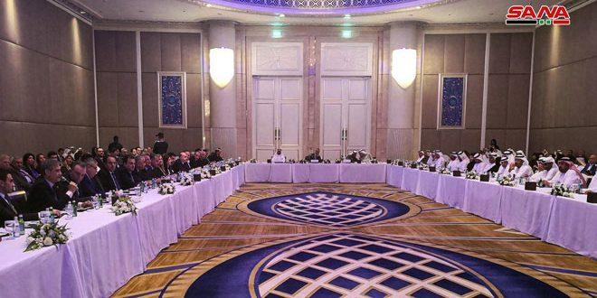 התכנסות מפגש המגזר הפרטי הסורי ושל הנסיכויות הערביות המאוחדות באבו דבי