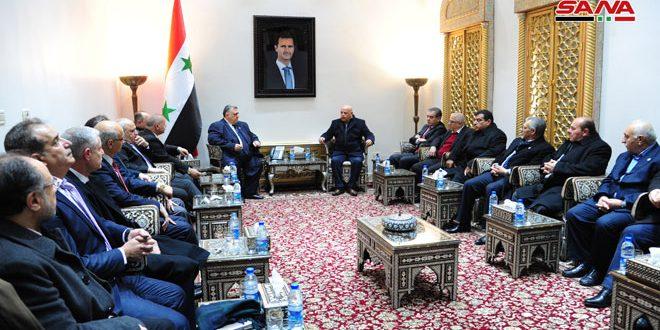 ראש מועצת העם נפגש עם משלחת איגודי פועלים ירדנית