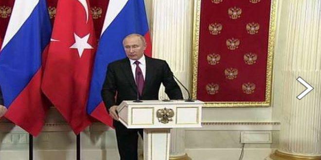 פוטין : פעולת המאבק בטרור בסוריה נמשכת