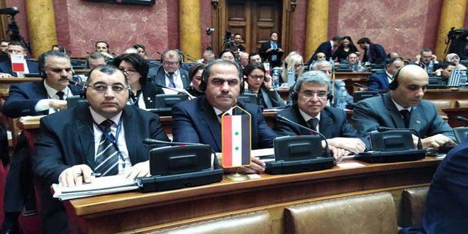סוריה מצטרפת לפגישת העמותה הפרלמנטרית של אגן הים התיכון