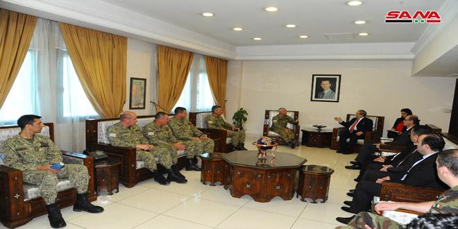 אל-מוקדאד הדגיש למשלחת צבאית מאורוגוואי את זכותה הקבועה של סוריה להחזרת הגולן הכבוש