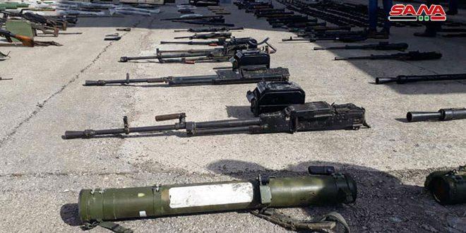 גילוי כמויות של כלי נשק תעשיה מערבית בפאתי חומס הצפוניים