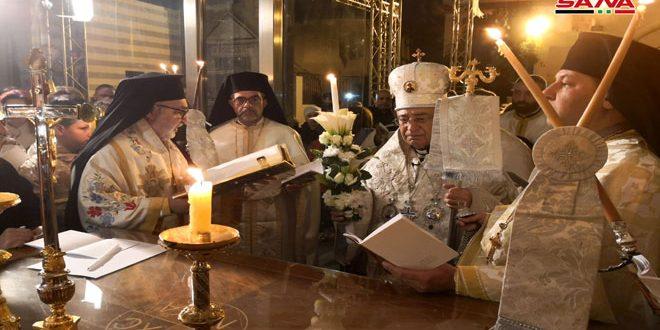 עידות הנוצרים בסוריה ציינו את חג הפסח המבורך בהקמת התפילות והמסות