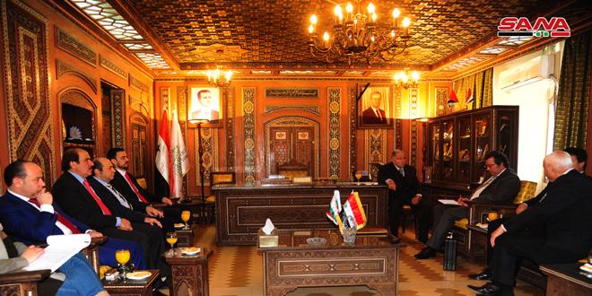משלחת בולגרית בלישכת המסחר של דמשק כדי לדון בדרכים לתפעול שיתוף הפעולה הכלכלי בין שתי הארצות