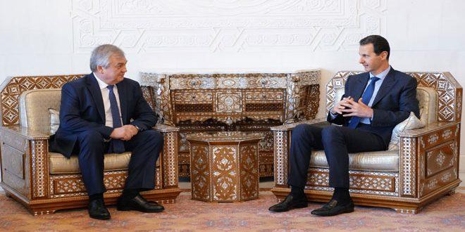 הנשיא אל-אסד בפני לברנטייב: יש להשקיע מאמץ כדי להתגבר על המכשולים הנערמים בדרך הסכם אידליב