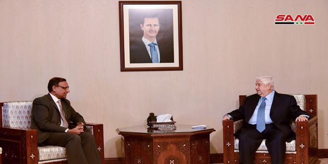 אל-מועלם אמר לסגן שר החוץ ההודי: יש לחזק שיתוף הפעולה לטובת הקמת יחסים אסטרטגיים לטווח ארוך