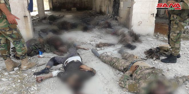 המצלמה של סאנא בסיור עם לוחמי הצבא הערבי הסורי בציר תל מלח – אל-ג'למה בפרבר חמא הצפוני