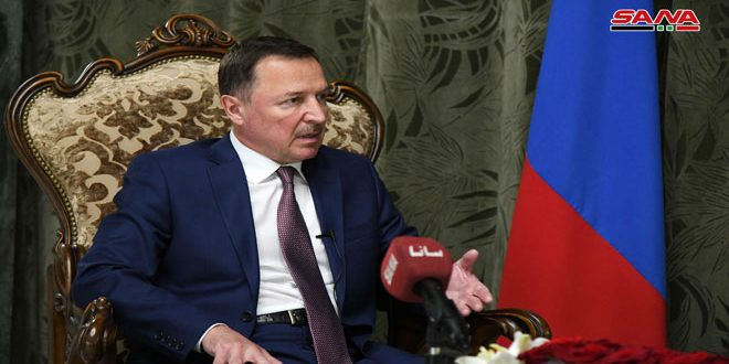 שגריר רוסיה בדמשק לסאנא …מספר החברות הרוסיות שישתתפו ביריד דמשק יגדל השנה