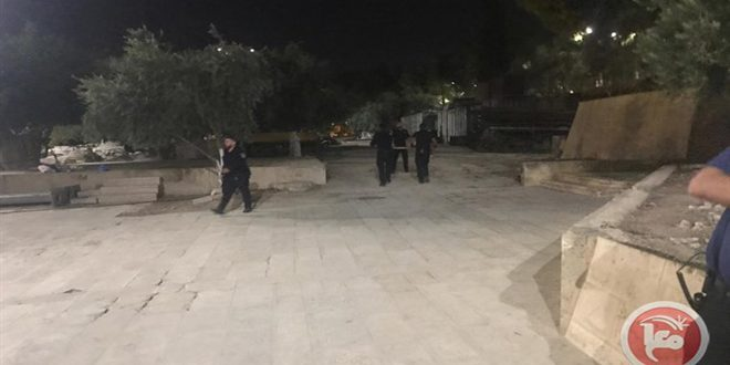 הכוחות הישראליים פשטו על מסגד אלאקצה