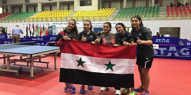 נבחרת סוריה לכדור השולחן לקטגורית הנוער זכתה במדלית זהב באליפות מערב אסיה