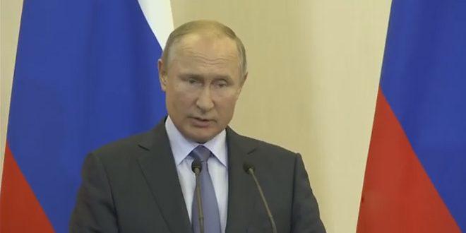 פוטין: לשמירת ריבונות סוריה ואחדות שטחיה