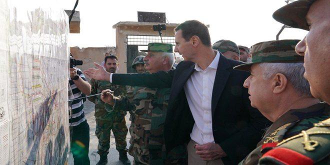 הנשיא אל –אסד נפגש עם אנשי הצבא בקווים הקדמיים בריף אידליב :המערכה של אידליב היא היסוד להכריע את האנרכיה והטרור בכל אזורי סוריה
