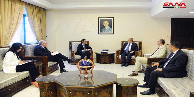 אל-מוקדאד בפני נציג לישכת פאו: יש להתמקד בצד הפיתוח