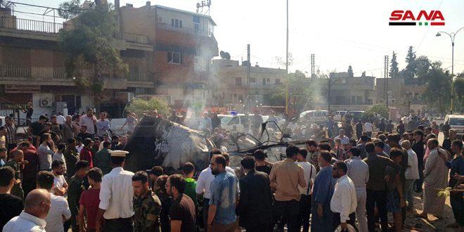 פיצוץ מטען חבלה במכונית במרכז עיר אל-קאמשלי וגרם לנזקים