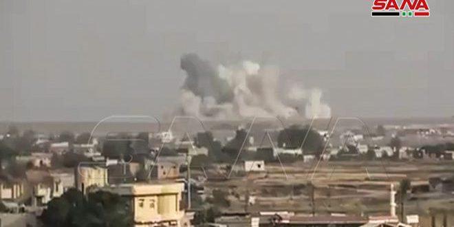 מקורות מקומיים : פגיעות בחומרים כימיים מתקיפת כוחות התוקפנות הטורקית לעיר ראס אלעין בצפון מערב אלחסקה