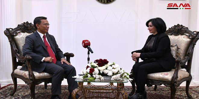 שגריר אינדונזיה מדגיש עשית ארצו להדק את הקשרים הבילטרליים: אינדונזיה תמיד מכבדת את רבונות סוריה ואחדות שטחיה