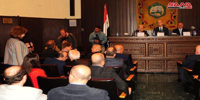 שיחות בין התאחדות לישכות המסחר הסוריות ומשלחת פרלמנטית גרמנית להסרת הסנקציות הכלכליות