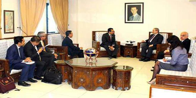 אלמקדאד דן עם ראווף בחיזוק היחסים בין סוריה לאינדונזיה בכל התחומים