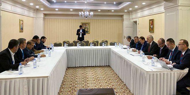 """משלחת הריפובליקה הערבית הסורית נועדה עם המשלחת האיראנית ומשלחת האו""""ם"""
