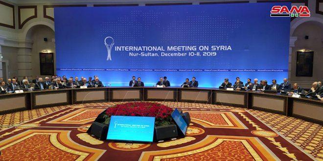 הודעת הסיכום של הסיבוב ה-14 של שיחות אסטנה הדגישה את ההתחיבות ברבונות סוריה