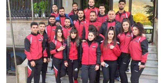 35 מדליות מגוונות לסוריה ביום הראשון לאליפות הערבית להרמת משקלים
