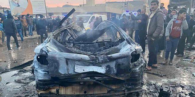 8 אזרחים נפלו ו-20 נוספים נפצעו בהתפוצצות רכב ממולכד בעיר אעזאז בפרבר חלב