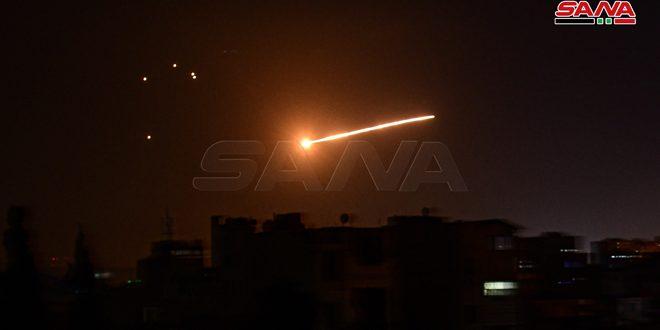 מערך ההגנה האווירית סיכל תוקפנות בטילים על סביבת דמשק והפיל את רוב הטילים לפני הגיעם ליעדם