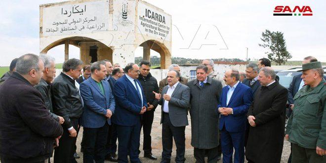 צוות ממשלתי ביקר במחוז חלב כדי לאשר תוכנית פיתוח כלכלית באזורים המשוחררים