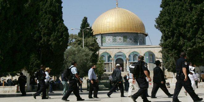 מתנחלים קיצונים פרצו למסגד אל אקצא המבורך והכוחות הישראלים עצרו 3 פלסטינים