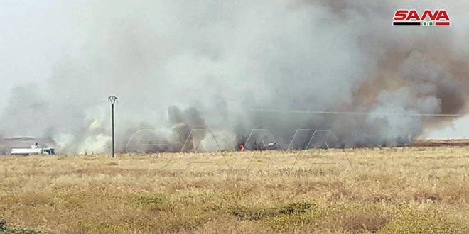 שריפות בריף אל-חסכה גרמו למותו של אזרח ולפגיעתם של אחרים