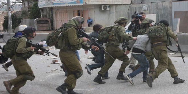 """כוחות הכיבוש עצרו כמה פלסטינים בעיר אלקודס הכבושה בהם יו""""ר עיריית אלקודס"""