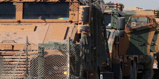 הכיבוש הטורקי מכניס טנקים ושריונים דרך מעבר ראס אל-עין בכיוון בסיסיו הבלתי חוקיים בפרבר אל-חסכה