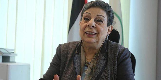 """עשראווי דורשת מהחברה הבינ""""ל להפסיק את פשעי ישראל"""