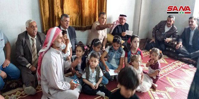 עשרות משפחות חזרו לבתיהן בעיר חאן שיחון