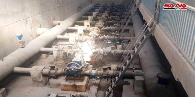 רשת המים של אל-חסכה : הפעלת תחנת עלוק ושאיבת מים לשכונות העיר