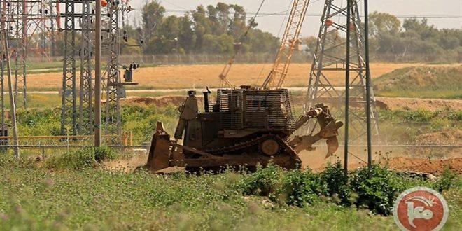 רכבי הכיבוש חודרים לשטחי הפלסטינים במרכז רצועת עזה