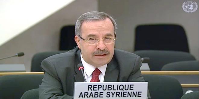 סוריה קוראת שוב לסיום הכיבוש הישראלי לגולן הערבי הסורי ומגינה את המשך ההתנחלות בו