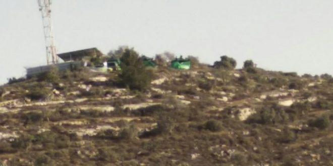מתנחלים ישראליים השתלטו על שטחים פלסטיניים מזרחית לסלפית