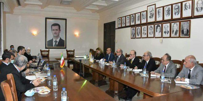 שיחות סוריות איראניות להידוק שיתוף הפעולה בתחומי מדעי רפואה טיכנולוגיה והנדסה