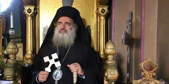 """הבישוף חנא מחדש קריאתו לקהילה הבינ""""ל להפסיק את פשעי הכיבוש נגד הפלסטינים"""