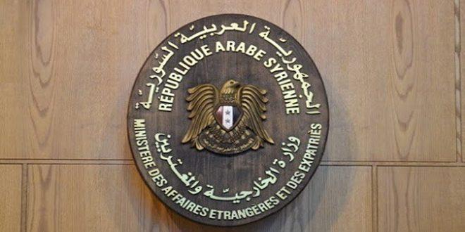 משרד החוץ : סוריה מגנה בחריפות את הנוהגים התוקפניים של כוחות הכיבוש האמריקני באלג'זירה ודורשת שוב לנסיגתם באופן מידי